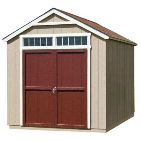 Home Depot Installed Sheds by Handy Home Products Installed Majestic 8 Ft X 12 Ft Wood