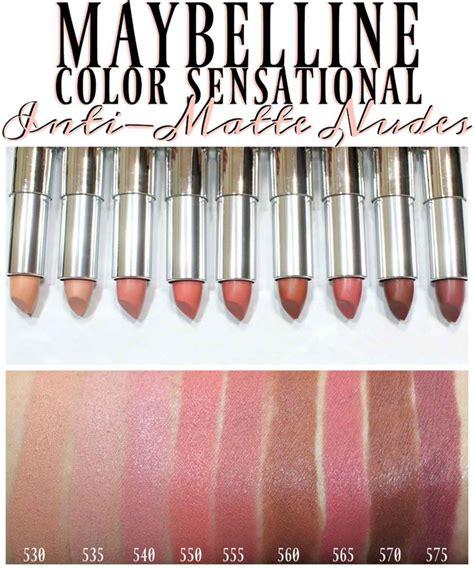 Maybelline Inti Matte Lipstick maybelline color sensational inti matte lipstick swatches maybelline