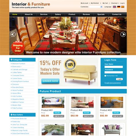 Creative Best Website Template Psd For Sale To Create Your Website Page 4 Furniture Shop Website Template