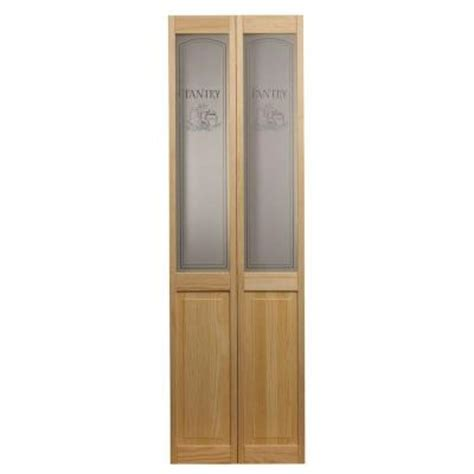 24 X 72 Interior Door Pinecroft 24 In X 80 In Pantry Glass Raised Panel Pine Interior Bi Fold Door 874620 The