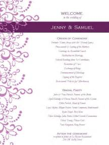 wedding reception programs templates wedding program templates free weddingclipart