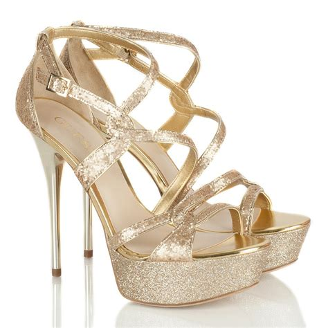 guess gold gw duriany s platform sandal