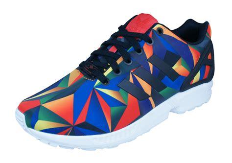 adidas originals zx flux mens trainers shoes multi colour at galaxysports co uk