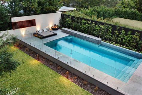 backyard designs with pool pool contemporary with fence frameless glass walls and simple contemporary pool and