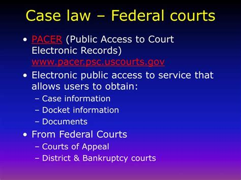 Pacer Federal Search Ppt And Subscription Based Research Powerpoint Presentation Id 472675