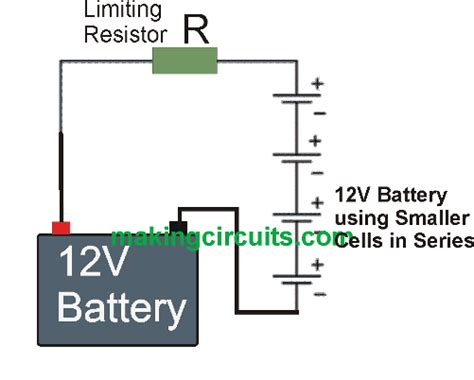 battery resistor circuit simple constant current battery charger circuits