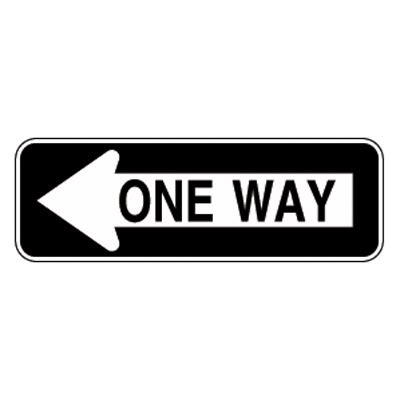 printable one way road sign unicor shopping one way left pointing arrow sign