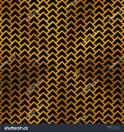 Technology Background With Gold Metal Texture (Chrome