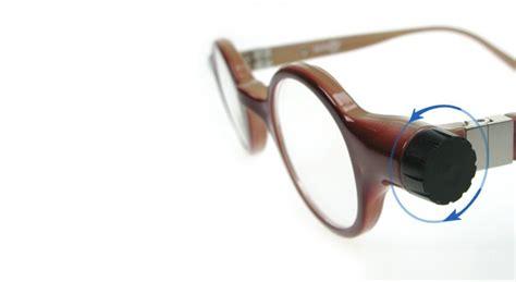 fluid filled adjustable eye glasses wired