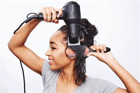 Hair Dryer To Straighten Curly Hair how to straighten curly hair popsugar