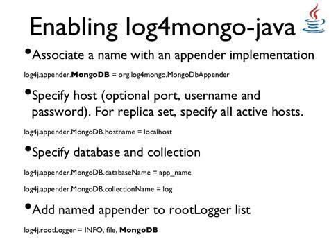 java pattern hostname logging application behavior to mongodb