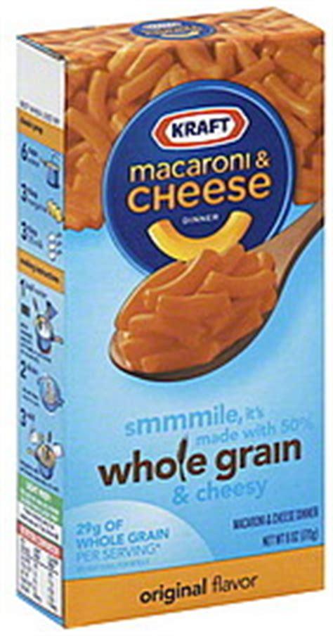 whole grain kraft macaroni and cheese nutrition kraft macaroni cheese dinner whole grain original