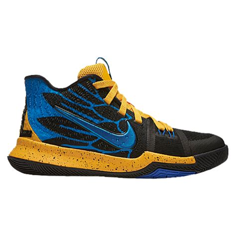 Sepatu Basket Nike Kyrie 3 Ftfo Grade Ori nike kyrie 3 boys grade school basketball shoes irving kyrie gold blue