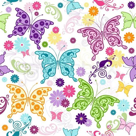 pattern for butterfly jasmine paper flower seamless floral pattern with colorful butterflies and