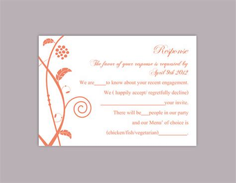 diy wedding card template diy wedding rsvp template editable text file instant