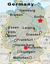 Nuremberg Germany Map by Germany Map Nurnberg