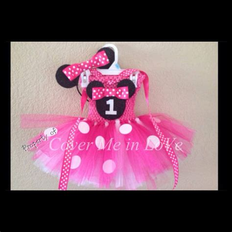 Set Minie Ribbon 50rb pink and white minnie mouse tutu dress set with ribbon neck