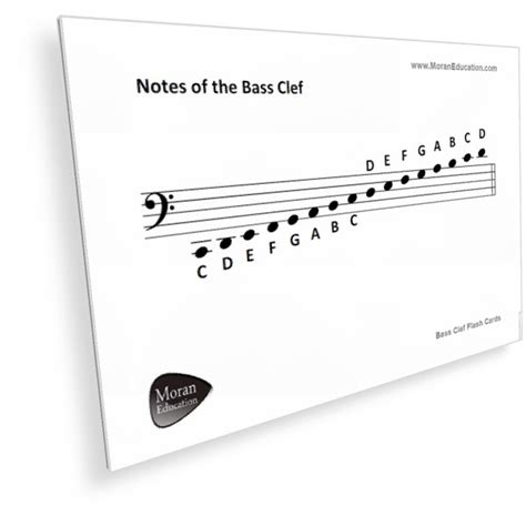 printable treble clef note flash cards printable bass clef flash cards