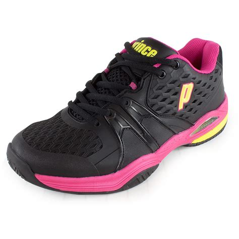 womens black tennis shoes prince womens warrior tennis shoes black pink