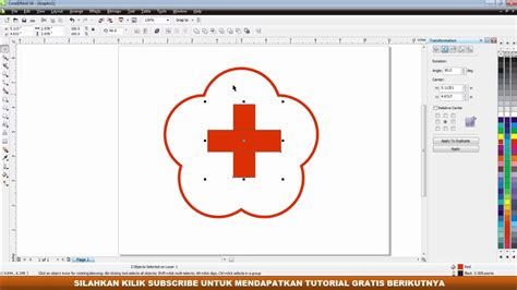 tutorial membuat logo nike dengan coreldraw x4 cara complite membuat logo pmr dengan coreldraw x4