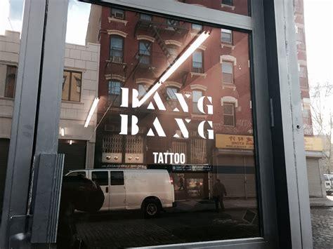 bang bang tattoo nyc logo and signage at new york global