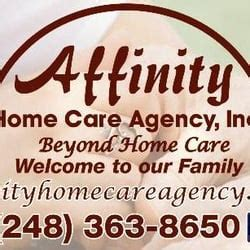 affinity home care agency commerce township mi yelp