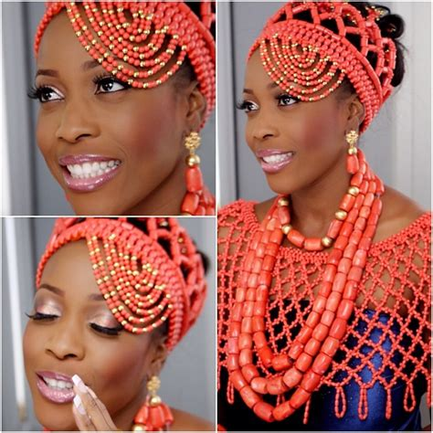 necklaces on traditional nigerian attires african beauty galore red coral beads and nigerian brides