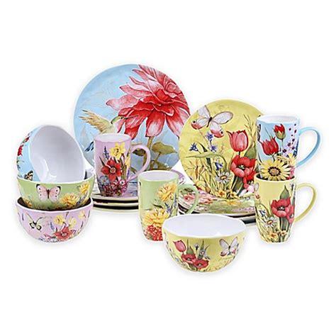 Dinner Set Agatha Flower certified international floral bouquet 16 dinnerware set bed bath beyond