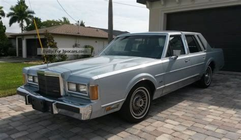 1989 lincoln town car mpg 1989 lincoln town car car photo and specs