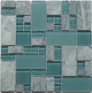 Green Subway Tile Kitchen Backsplash obscure turquoise gq04 green gray glass amp stone mosaic