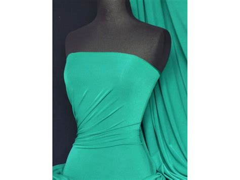 Material Soft Strech sea green silk touch 4 way stretch lycra fabric