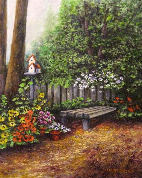 timeout bench the time out bench painting by laurie golden