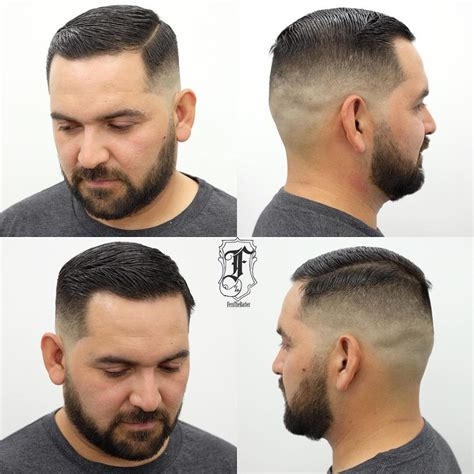 very short hair ut with side part men s short side part on skin fade