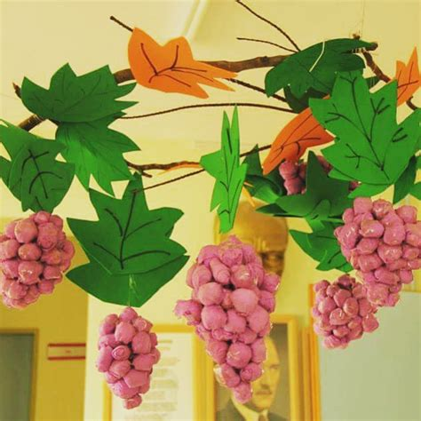 grapes craft for crafts actvities and worksheets for preschool toddler and