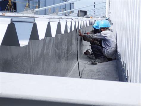 Corong Talang Kotak Jaya Outlet Gutter talang air fiberglass fibre gutter proyek mitsubishi