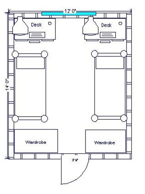college dorm floor plans double bedroom floor plan dorm room pinterest floors