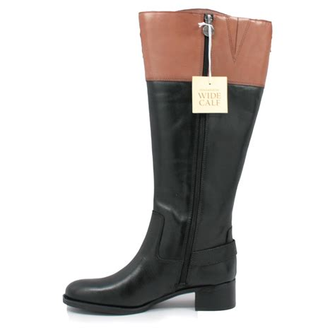 franco sarto s chip wide calf boots black