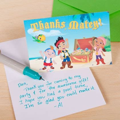 jake and the neverland thank you card template jake and the never land ideas for
