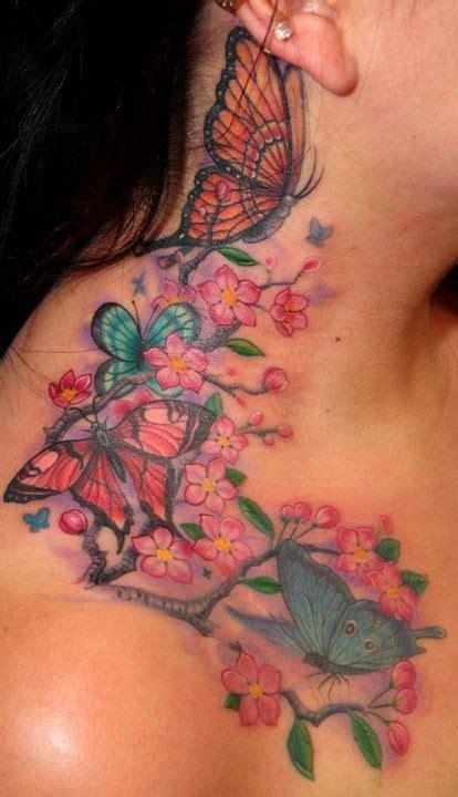 butterfly tattoo cherry blossom butterflies cherry blossoms
