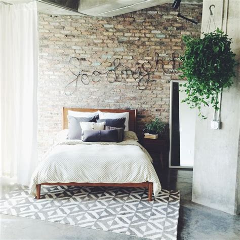 exposed brick bedroom 1000 ideas about rug under bed on pinterest under bed