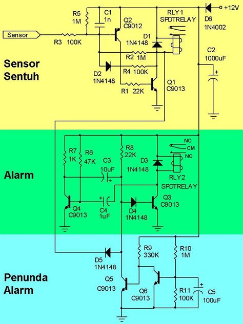 Berapa Alarm Untuk Motor menambah alarm untuk pengaman motor dengan sensor sentuh