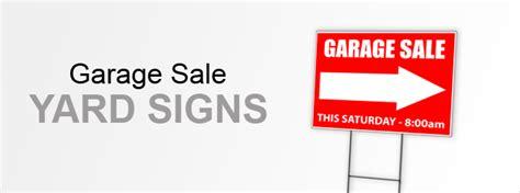 Custom Garage Sale Signs by Garage Sale Signs Yard Signs Custom Signs At