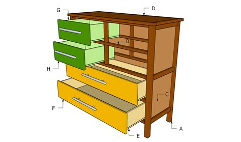 how to build drawers download how to build a dresser with drawers plans free