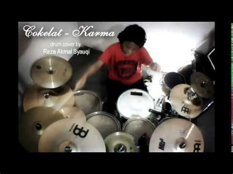 tutorial drum coklat karma cokelat karma drum cover by reza akmal syauqi youtube