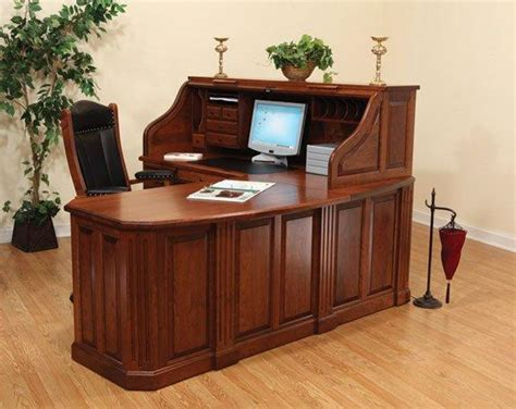 Fifth Avenue Executive Amish Corner Roll Top Desk Corner Roll Top Desk