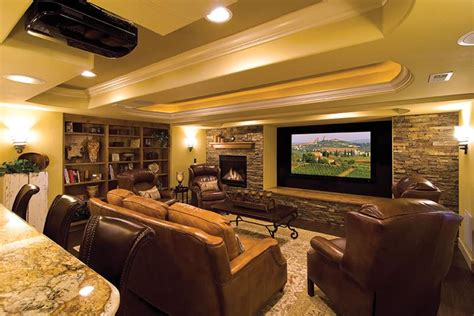 Interior Design Living Room Low Budget 27 Luxury Finished Basement Designs Page 2 Of 5