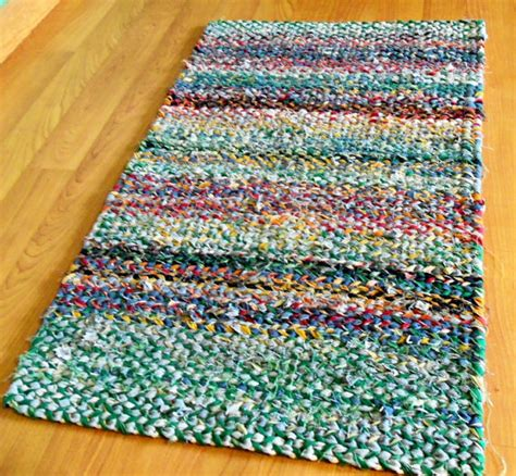 recycled material rugs recycled bluejeans fabric twined rag rug by karendriscollweaving