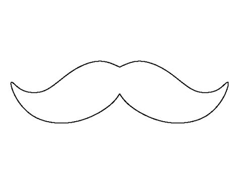 mustache print out template printable mustache template