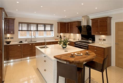 Kitchen Blinds Wooden Faux Wood Blinds Contemporary Kitchen Brown White