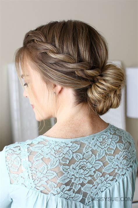 rope twist updo bun hairstyle 3 easy rope braid hairstyles missy sue